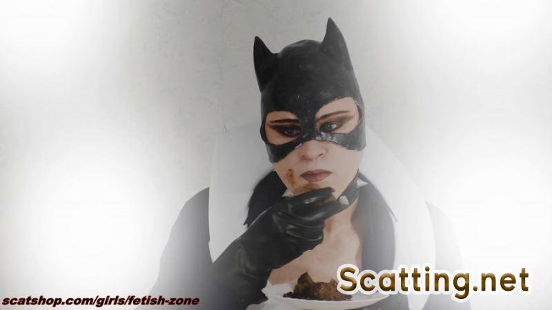 Fetish-zone - Catwoman smears and swallows (Scatology, Solo) Extreme Scat [FullHD 1080p]