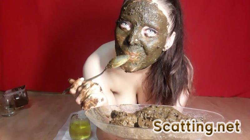 Lina - Lina scat young swallowing shit (Solo, Defecation) Eating Scat [FullHD 1080p]